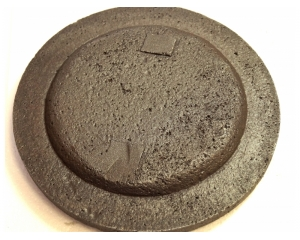 Крышка без отверстия 1Д.00.00.002 (глухая) диамтером 180мм для угольной дробилки ДО-1М
